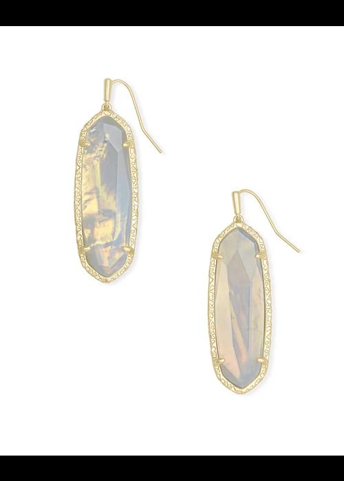 Kendra Scott Layla Drop Earring Gold Metal Opalite Illusion