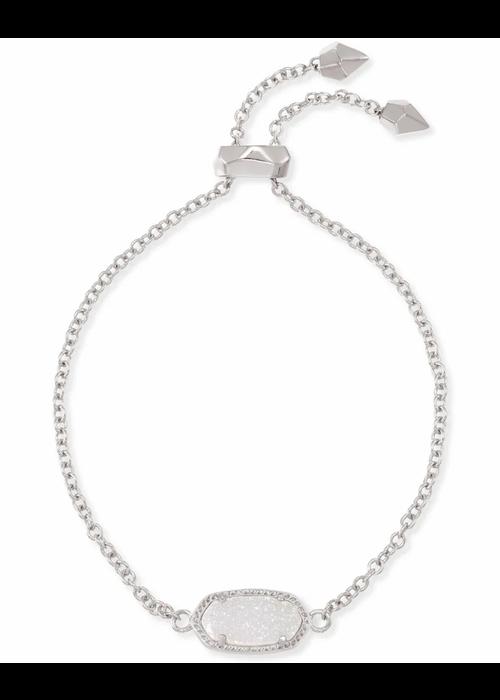 Kendra Scott Elaina Bracelet Silver Metal Iridescent Drusy