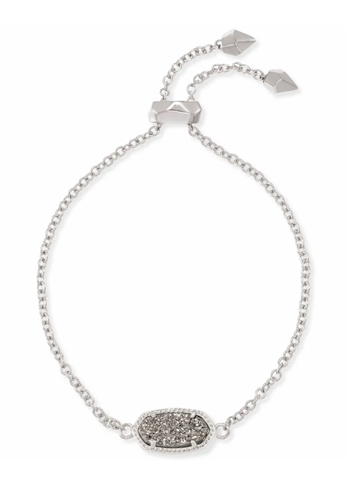 Kendra Scott Elaina Bracelet Silver Metal Platinum Drusy