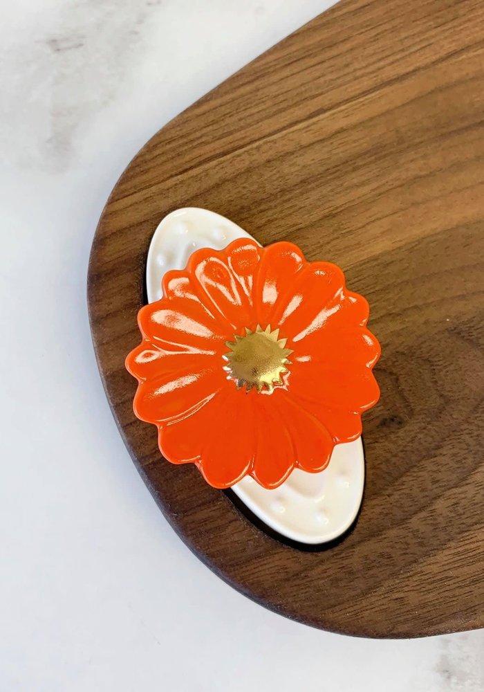 """Orange Ya Glad"" Daisy Nora Fleming Mini"