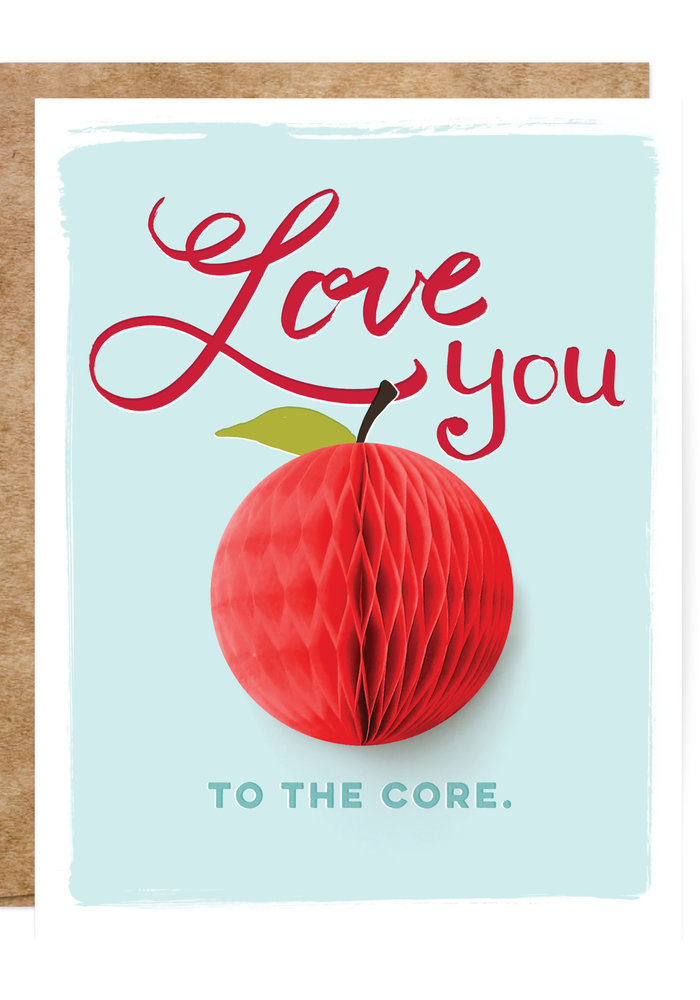 """""""Love You to the Core"""" Pop-Up Card"""