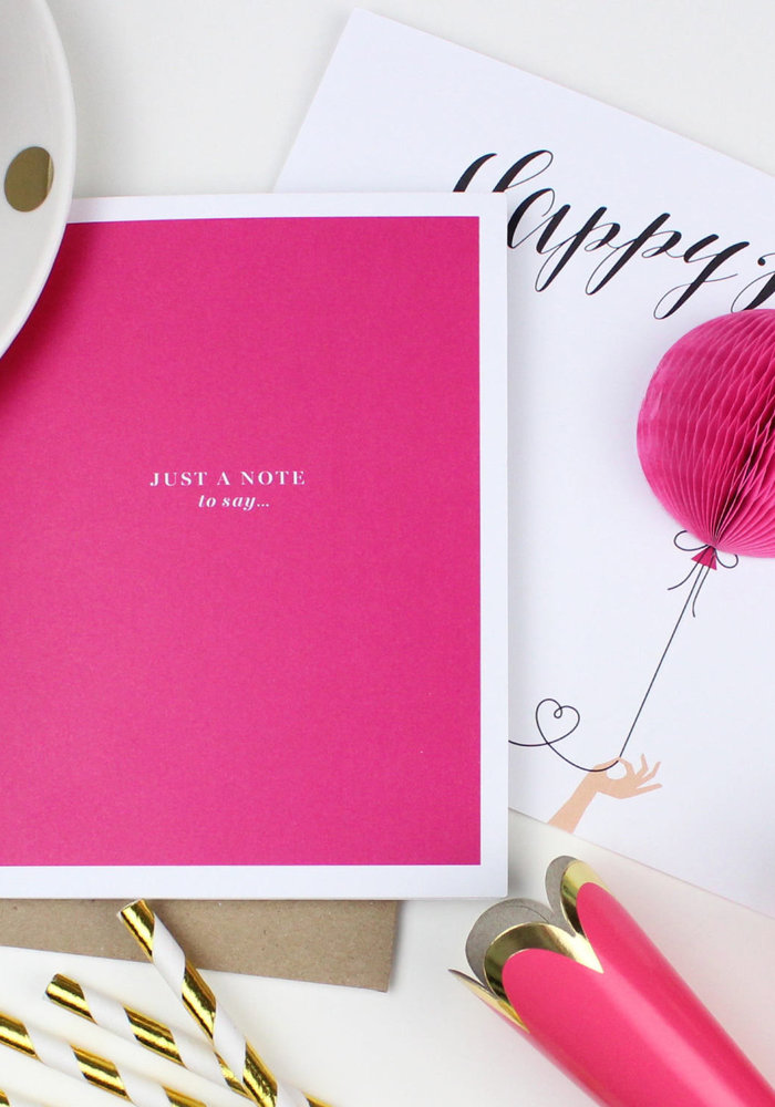 """""""Just a Note to Say Happy Birthday"""" Pop-Up Card"""