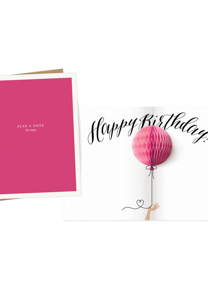 """Just a Note to Say Happy Birthday"" Pop-Up Card"