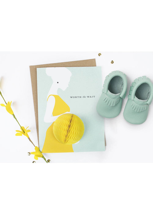 """Worth the Wait"" Baby Bump Pop-Up Card"