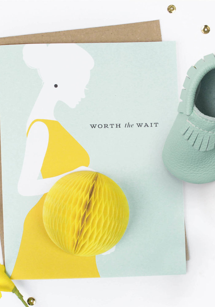 """Worth the Wait"" Baby Bump Pop-Up Card"