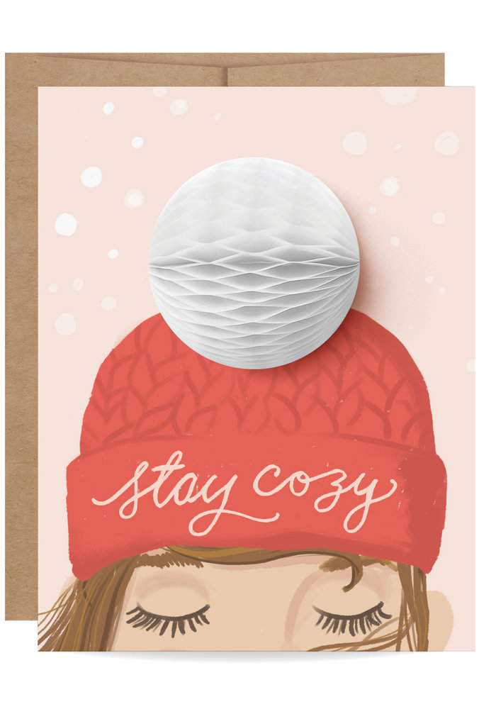 """Stay Cozy"" Pop-Up Card"