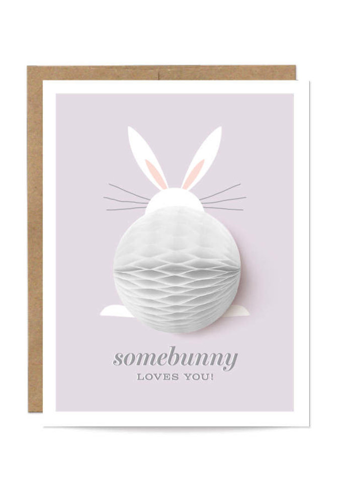 """Somebunny Loves You"" Pop-Up Card"