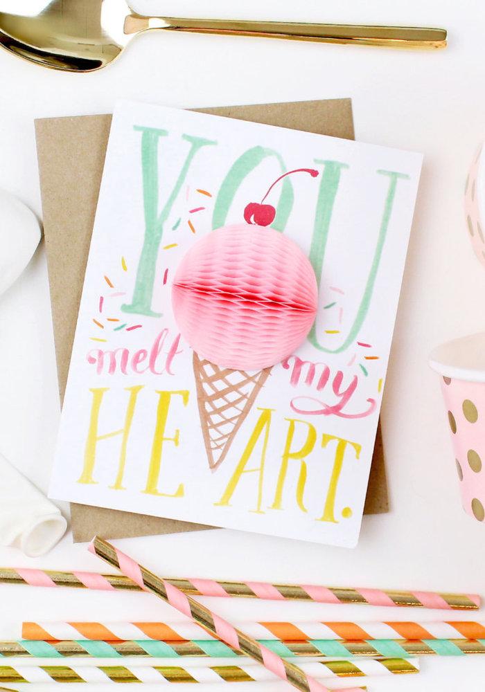 """""""You Melt My Heart"""" Ice Cream Pop-Up Card"""
