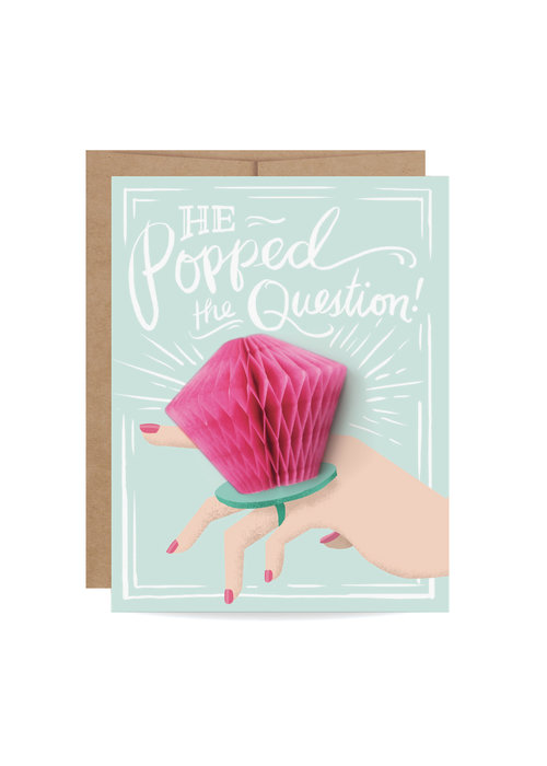 """He Popped the Question!"" Pop-Up Card"