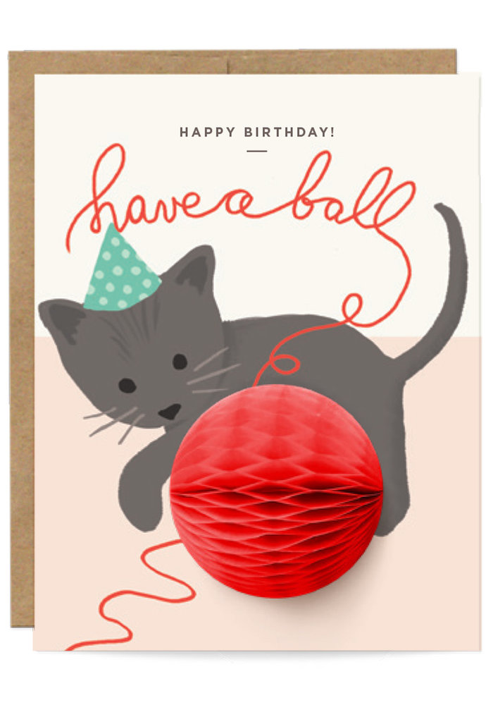 """Have a Ball"" Birthday Pop-Up Card"