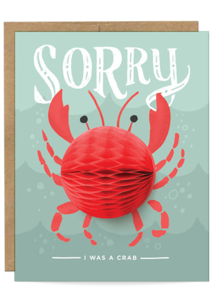 """""""Sorry I Was a Crab"""" Pop-Up Card"""