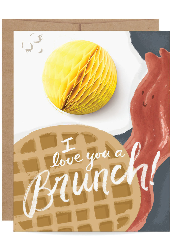 """I Love You a Brunch!"" Pop-Up Card"