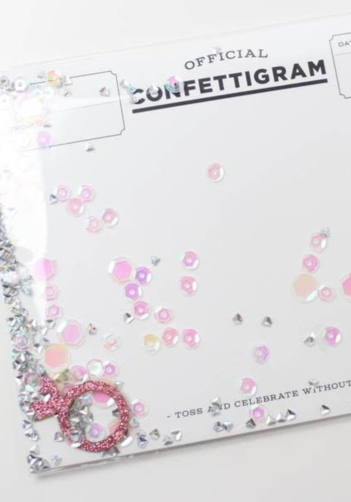 """Bubbly Bride"" Confettigram"