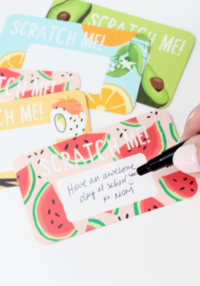 """""""Scratch Me!"""" Scratch-off Lunchbox Notes"""