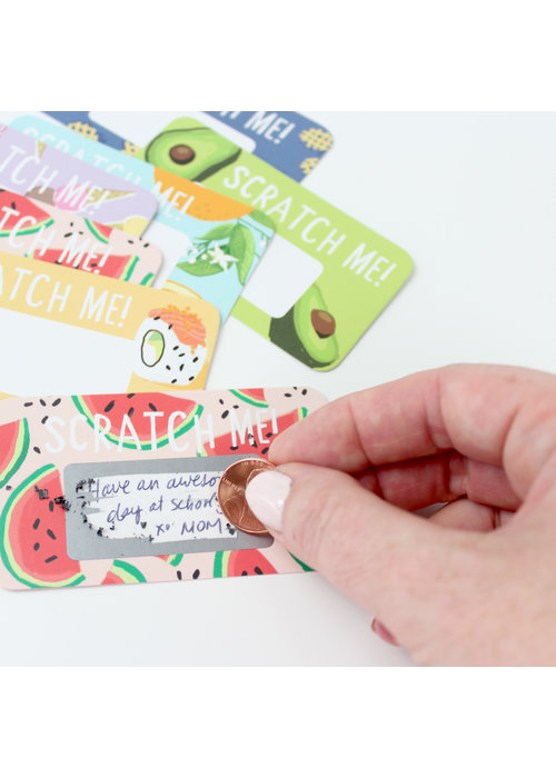 """Scratch Me!"" Scratch-off Lunchbox Notes"