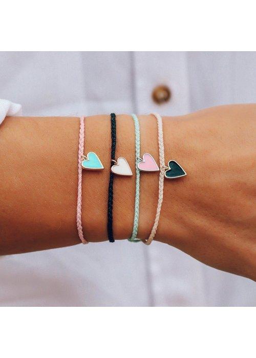 Pura Vida Petite Heart Charm Bracelet Winterfresh
