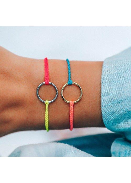 Pura Vida Two-Tone Neon  Full Circle Bracelet