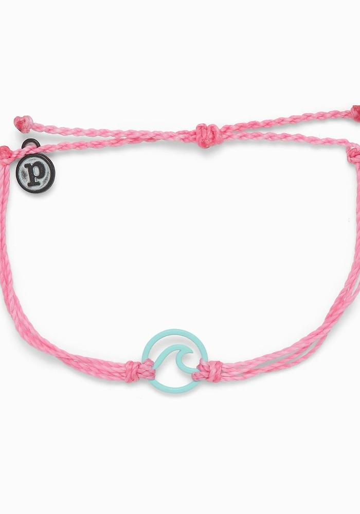 Matte Aqua Enamel Wave Bracelet