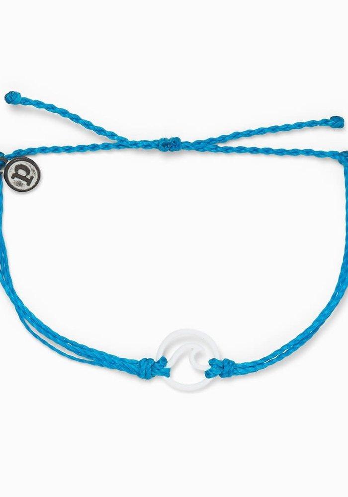 Matte White Enamel Wave Bracelet