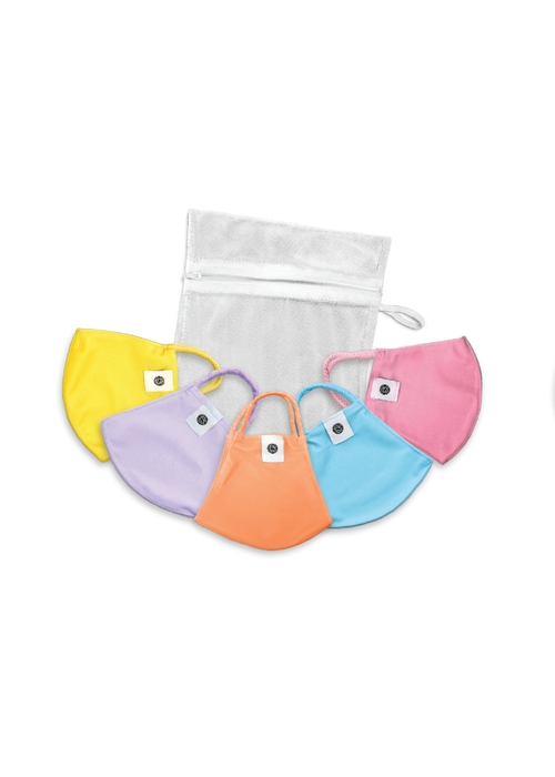 Kid's Pom Mask Bag Set Bright Solids