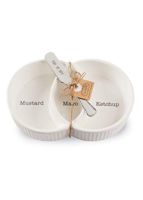 "Mudpie ""Top It Off"" Condiment Server Set"