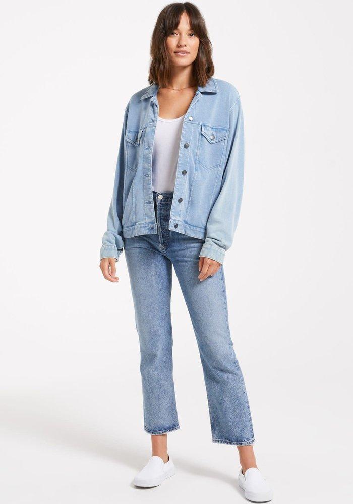 Tina Denim Knit Stretch Trucker Jacket