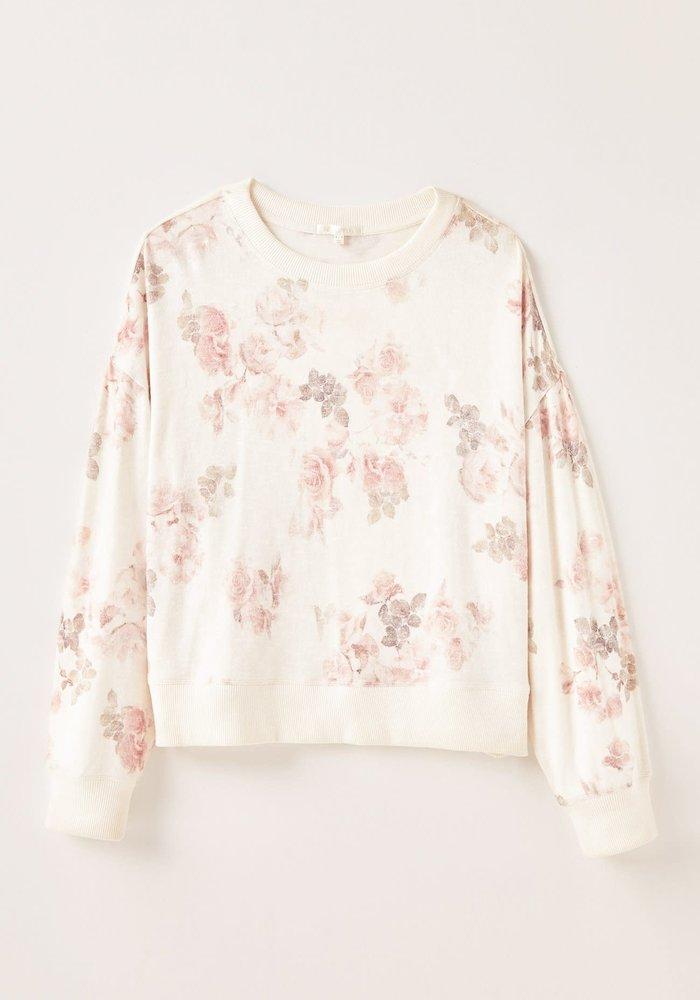 Elle Floral Long Sleeve Knit Top
