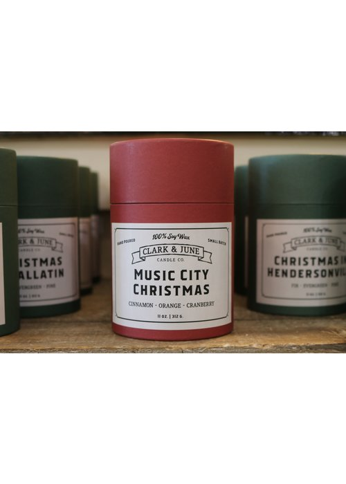 Clark & June Candle Co. Music City Christmas Reusable Candle