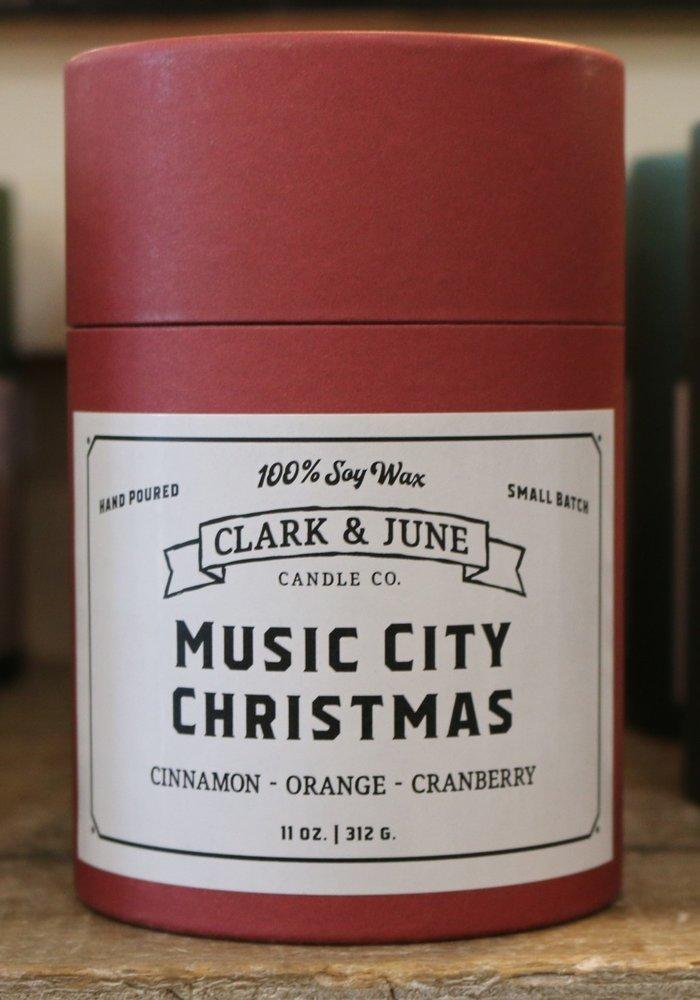 Music City Christmas Reusable Candle