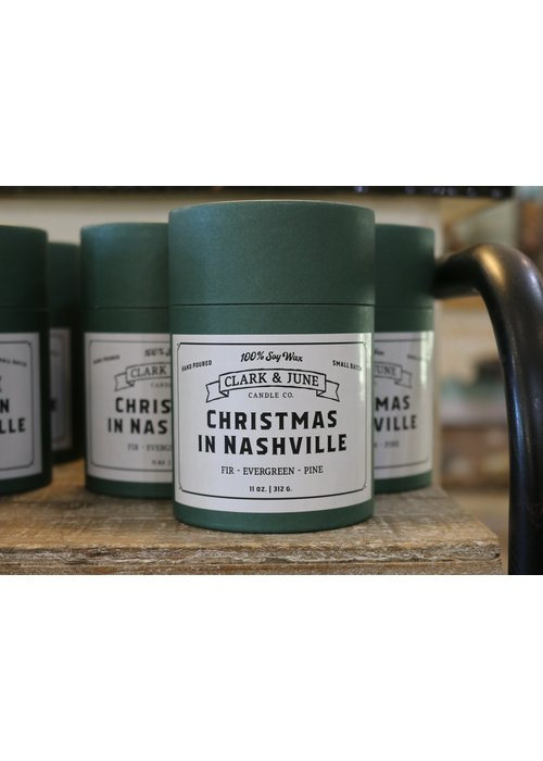Clark & June Candle Co. Christmas in Nashville Reusable Christmas Candle
