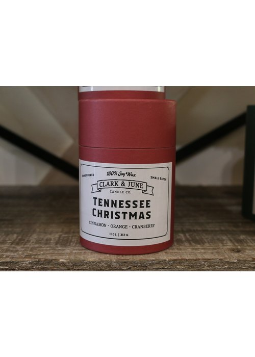 Clark & June Candle Co. Tennessee Christmas Reusable Candle