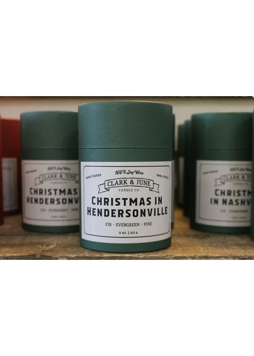 Clark & June Candle Co. Christmas in Hendersonville Reusable Candle