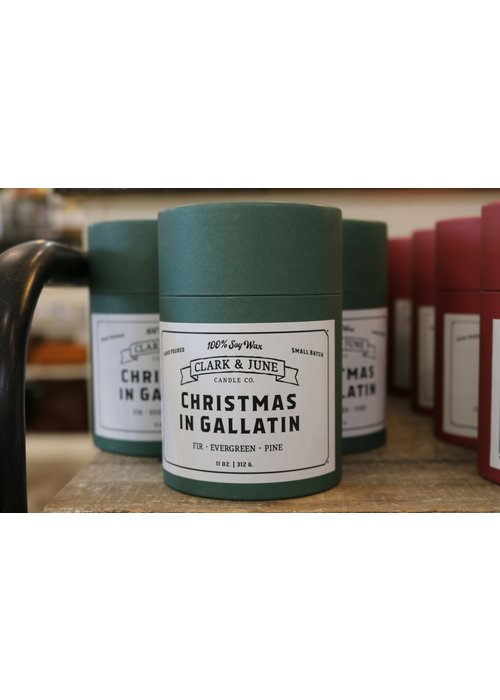 Clark & June Candle Co. Christmas in Gallatin Reusable Candle