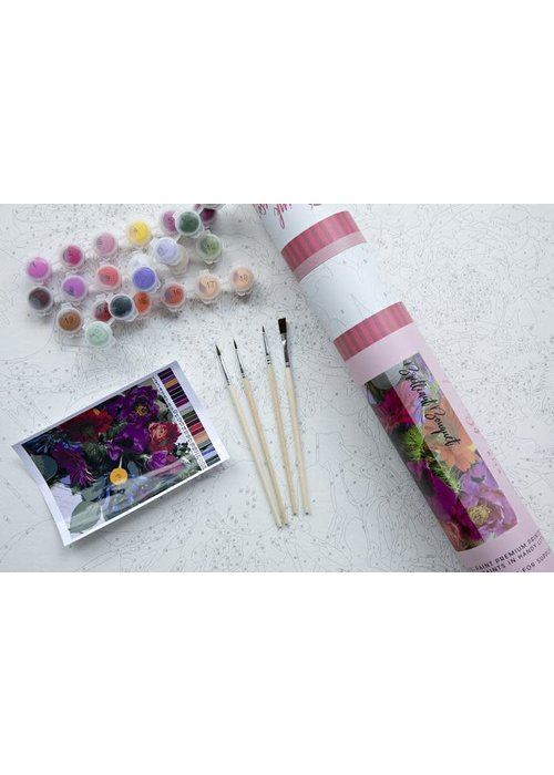 Pink Picasso Brilliant Bouquet Paint by Numbers Kit