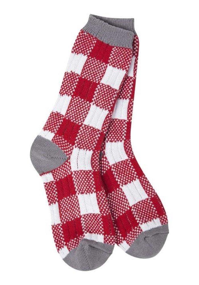 Team Plaid Crew Sock
