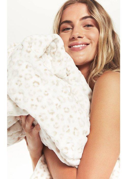 Z Supply Sunday Leopard Plush Blanket