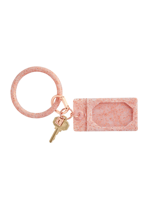Oventure Rose Gold Confetti Ossential Silicone ID Case