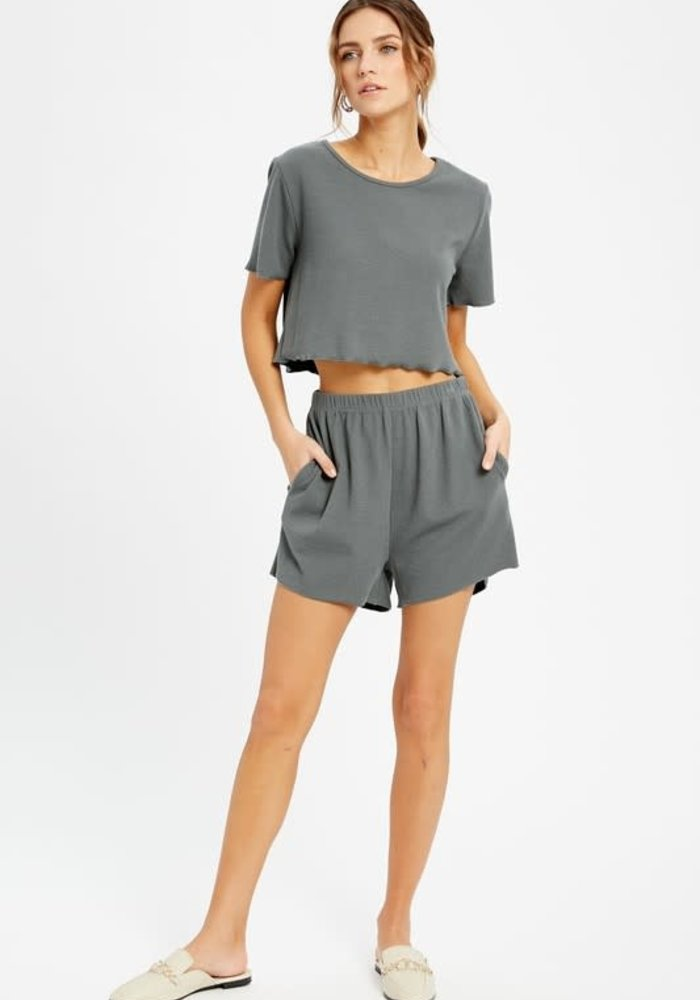Teal Green Casual Lounge Shorts