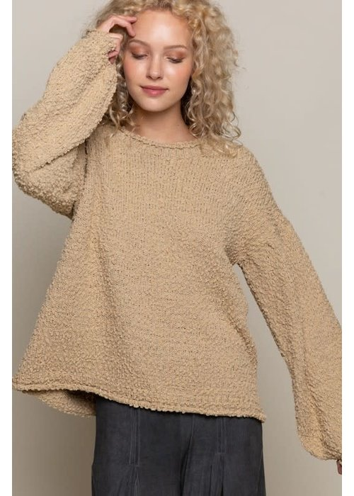 Knit Bell Sleeve Sweater