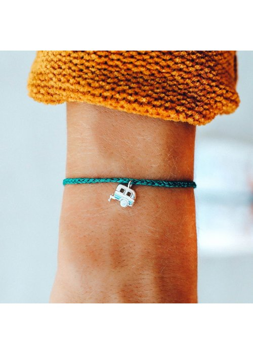 Pura Vida On the Road Silver Camper Charm Bracelet