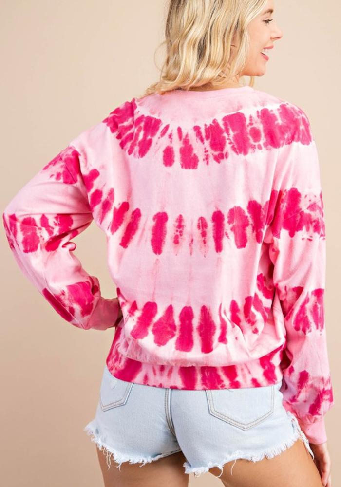 Pink Tie Dye Sweatshirt