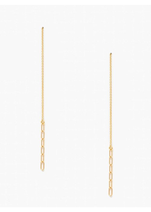ABLE Essential Chain Threader Earrings