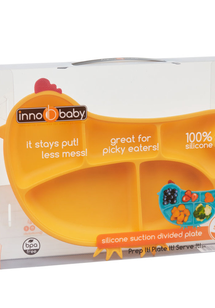 Silicone Chicken Divided Suction-Bottom Plate