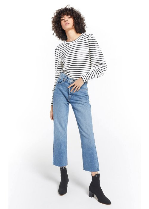 Z Supply Clemente Striped Puff Sleeve Pullover Top