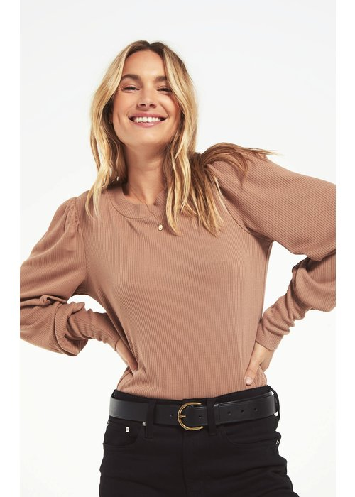 Z Supply Clemente Puff Sleeve Pullover Top