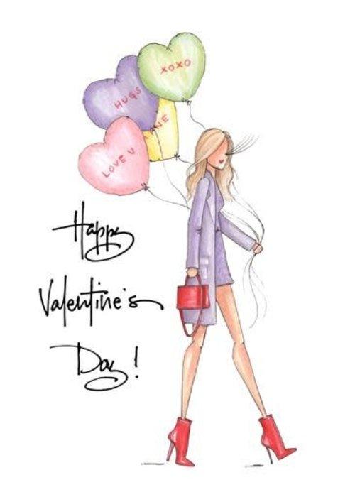 """Brittany Fuson """"Love U"""" Brittany Fuson™ Greeting Card"""