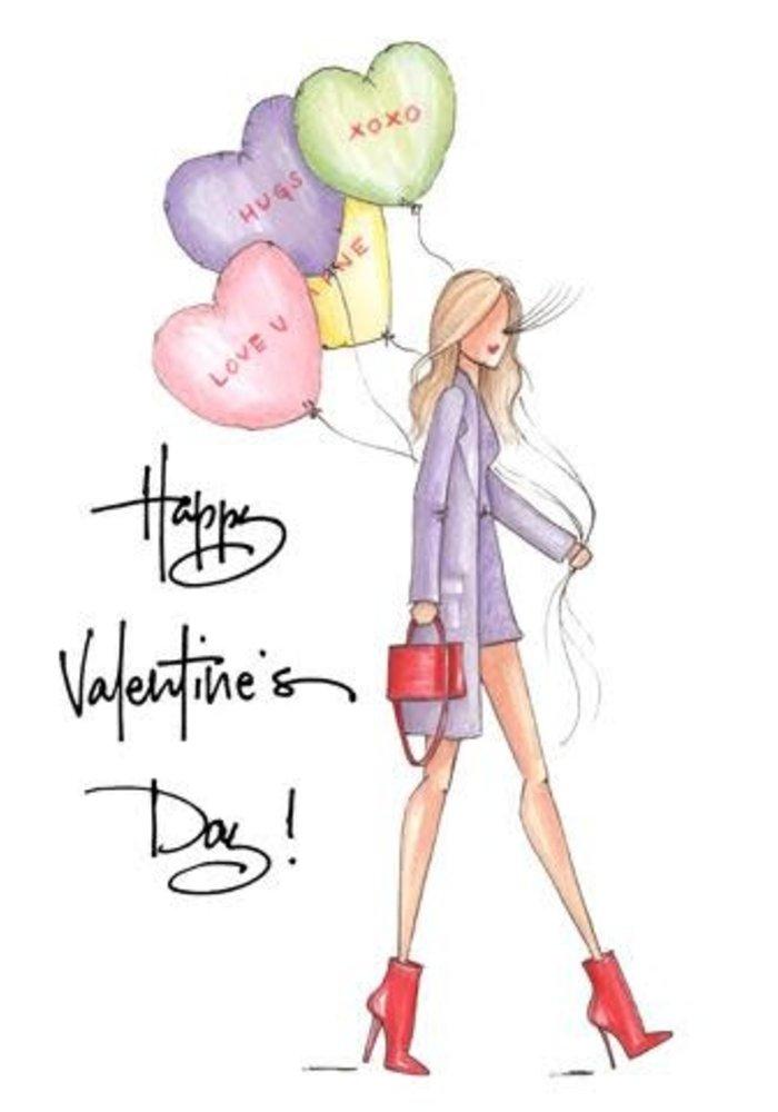 """""""Love U"""" Brittany Fuson™ Greeting Card"""