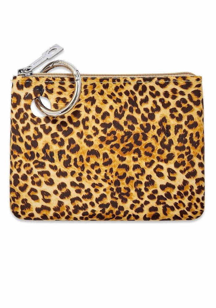 Cheetah Mini Silicone Zip Pouch
