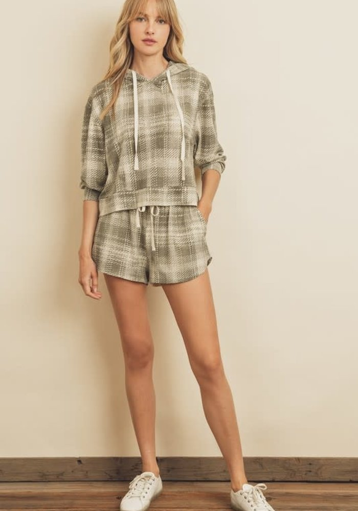 Green Plaid Lounge Shorts