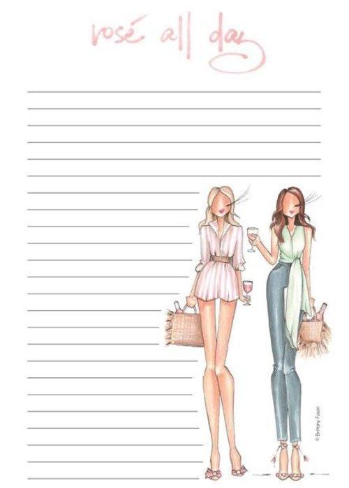 "Brittany Fuson ""Rosé All Day"" Brittany Fuson™ Notepad"